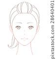 女性面部绘图 28640401