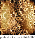Gold gears and cogs macro 28641082