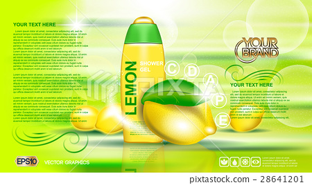 Digital vector yellow and green shower gel 28641201