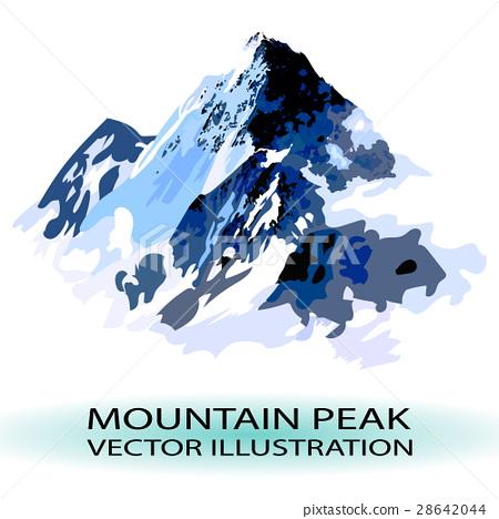 VECTOR mountain peak stylized illustration 28642044