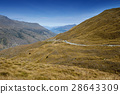 Road, mountains, and lake in New Zealand 28643309