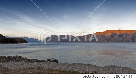 Lake Hawea in the Otago Region of New Zealand 28643444