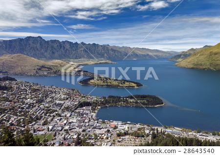 Lake Wakatipu and Queenstown, New Zealand 28643540