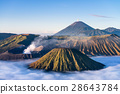 Mount Bromo volcano during sunrise 28643784