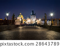 Charles bridge at night 28643789