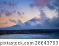 Mount Fuji and lake Motosu 28643793