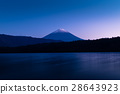 Mount Fuji and lake Saiko 28643923