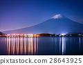 Mount Fuji and lake Kawaguchi 28643925
