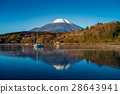 Mount Fuji and lake Yamanaka 28643941