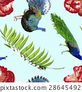 tropical, flower, seamless 28645492