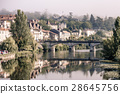 Picturesque view of Perigord town in France 28645756