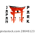 Asian gate, building symbol in traditional 28646123