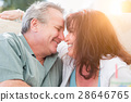 Happy Middle Aged Couple Enjoy A Romantic Moment Outside 28646765