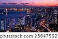 彩虹橋和東京中心晚上風景 28647592