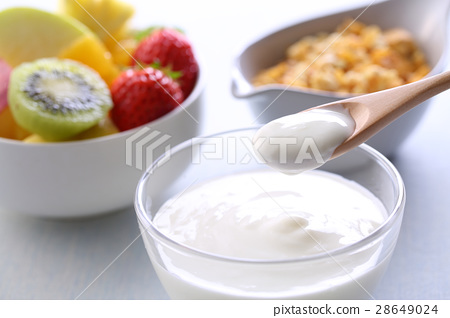 酸奶,格蘭諾拉麥片 28649024
