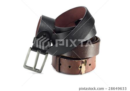 belt or men's black belt isolated 28649633