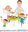 家庭享受燒烤 28649893