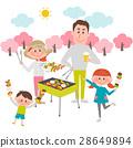 바베큐를 즐기는 가족 28649894