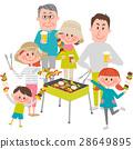 ครอบครัวเพลิดเพลินกับบาร์บีคิว 28649895