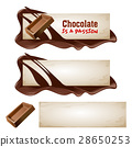 Set of vector chocolate banners. 28650253