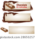 Set of vector chocolate banners. 28650257