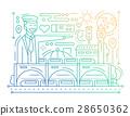 Railway Station - line design composition - color 28650362