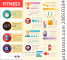 Fitness - vector flat design illustrative template 28650384