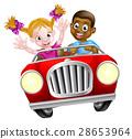 car, cartoon, driving 28653964