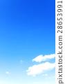 藍天天空雲彩冬天天空背景材料2月拷貝空間 28653991