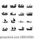 vector transport boat Icons 28654084