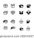 set of parcel box, open box icons set 28654097