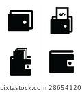 벡터, 지갑, 아이콘 28654120