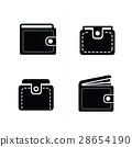 벡터, 지갑, 아이콘 28654190
