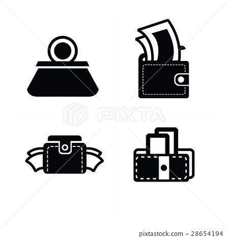 money in Wallet set icon 28654194