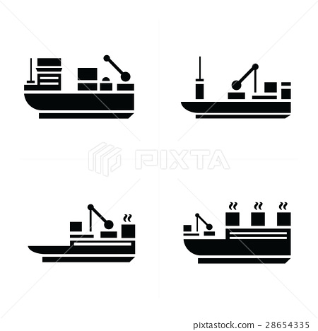 transport boat Icons 28654335