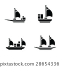 圖標 船 郵輪 28654336