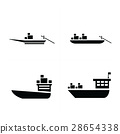 transport boat and small boat icon 28654338