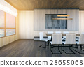 Modern and minimal meeting room interior 28655068