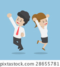 Business People Celebrating Success by Jumping 28655781