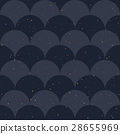 Fish scale japanase seamless pattern vector 28655969