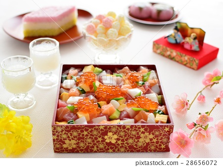 Hinamatsuri Raw Chirashi Sushi Roses Chirashi 28656072
