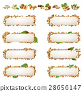 Set banners with different kinds of nuts. 28656147