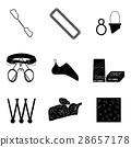 Sport climbing vector black silhouette 28657178