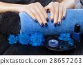 manicure, flower, hand 28657263