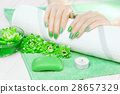 manicure, flower, hand 28657329