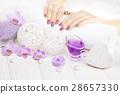 manicure, flower, hand 28657330