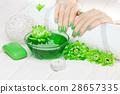 manicure, flower, hand 28657335