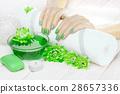 manicure, flower, hand 28657336