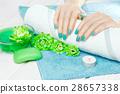 manicure, flower, hand 28657338