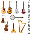 stringed musical instruments stock vector 28660475